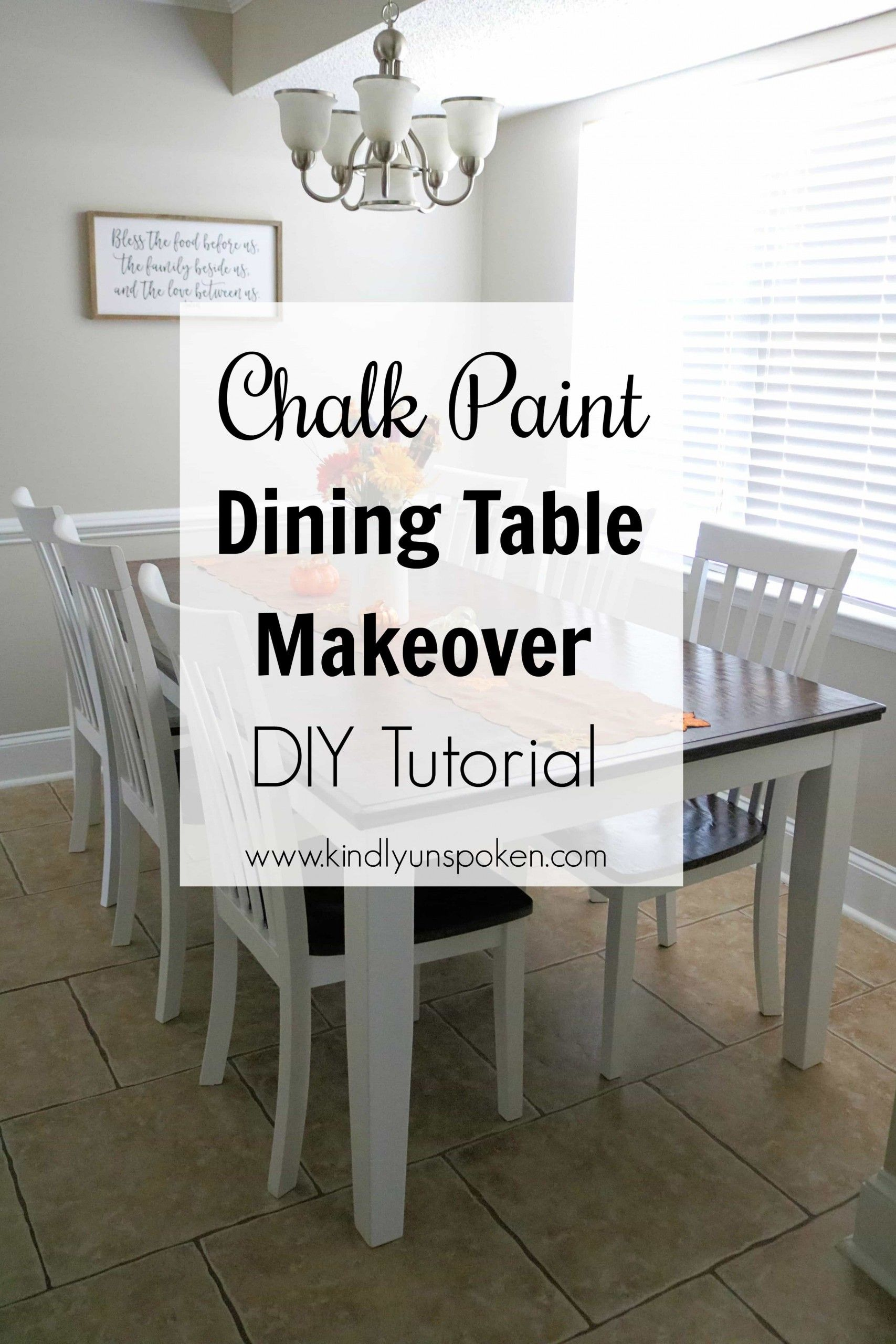Gorgeous Chalk Paint Dining Table Makeover (DIY)