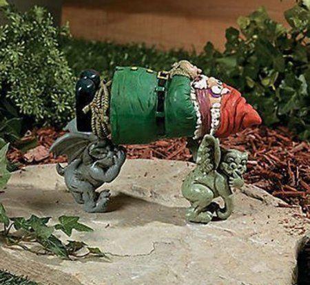 Garden Gnome Kidnapped By Gargoyles
