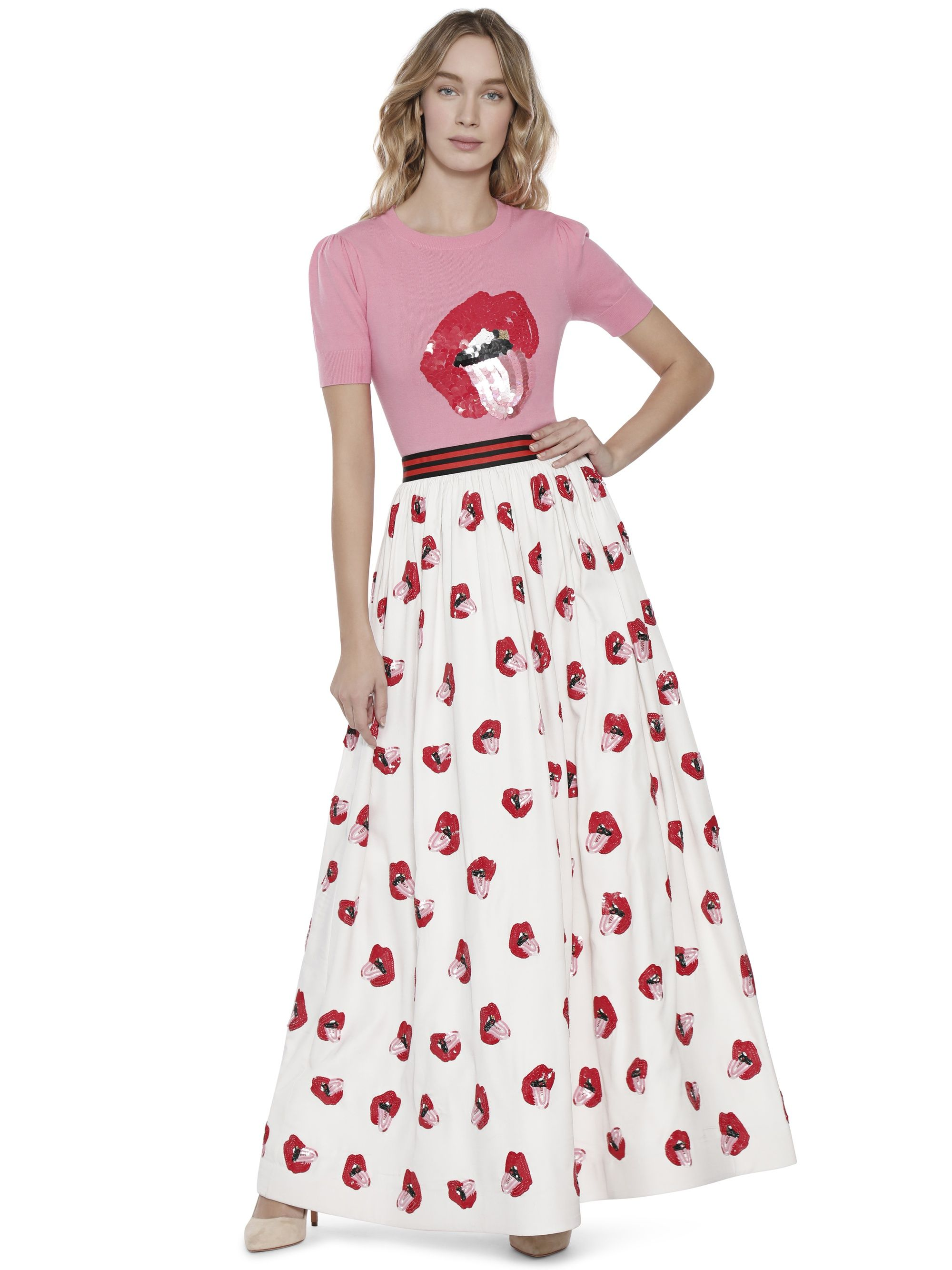 24448ca08e58 AO X DONALD TINA EMBELLISHED BALL GOWN SKIRT by Alice + Olivia ...