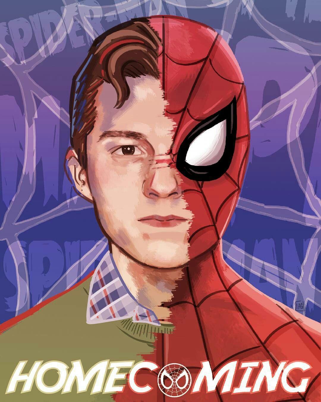 Amazing fanart inspired by Spider-Man: Homecoming ❤ (via inmaalmansa on IG )