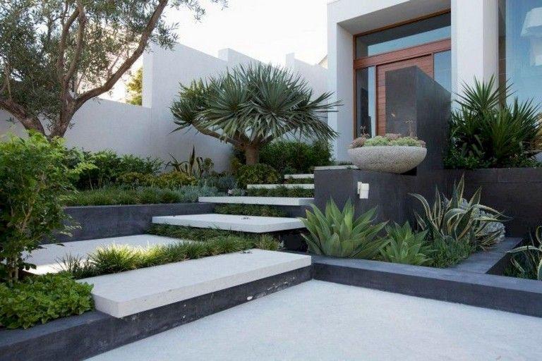58 Beautiful Low Maintenance Front Yard Landscaping Ideas Small Front Yard Landscaping Front Yard Landscaping Design Modern Garden Landscaping