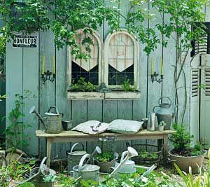gestaltungsideen für den cottage-garten: gartenhäuschen mit, Haus und garten