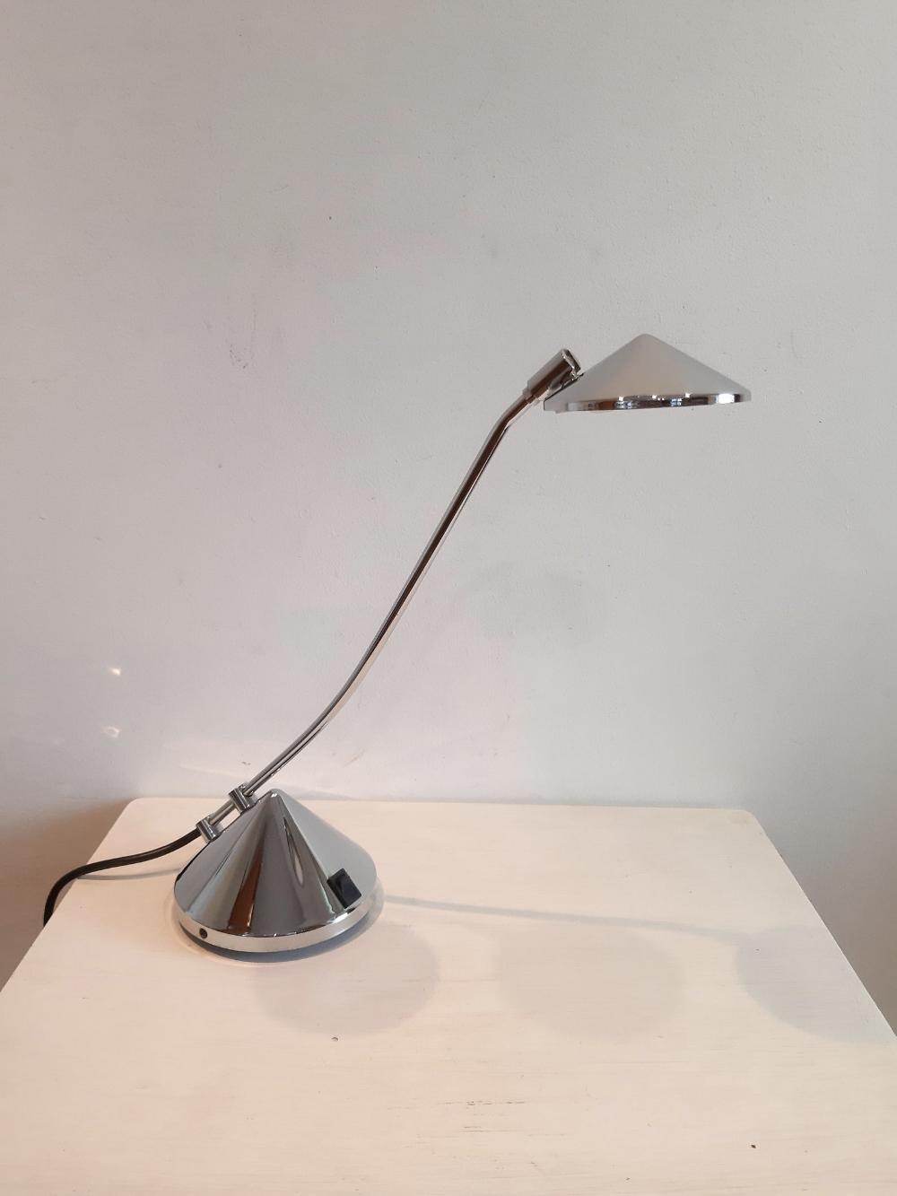 Vintage Stainless Steel Chrome Desk Lamp Office Lamp Table Lamp Reading Lamp Study Bedroom Desk 12v Lamp Circa 1990 S In 2020 Desk Lamp Table Lamp Lamp