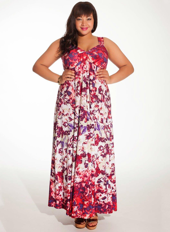 Modernos vestidos largos para gorditas   Vestidos para gorditas de ...