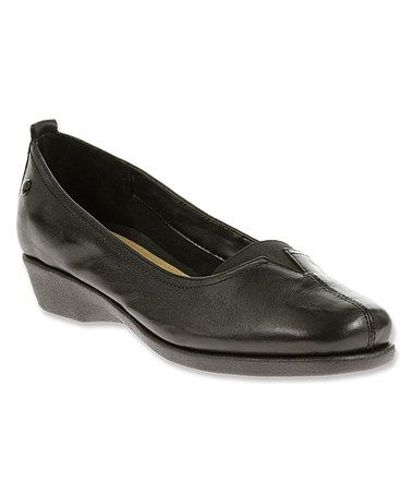 Loving this Black Pearl Carlisle Leather Wedge - Women on #zulily! #zulilyfinds