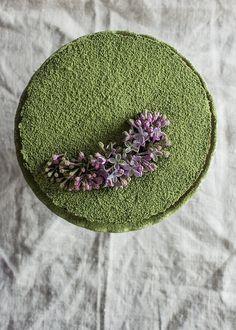 Matcha pound cake.