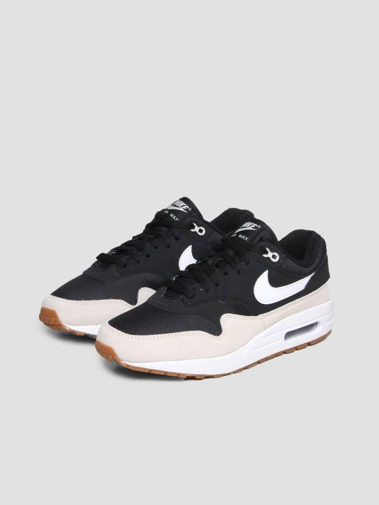 reputable site a667c 0b45a Nike Air Max 1 Shoe Black White Light Bone Ah8145-009 - FRESHCOTTON