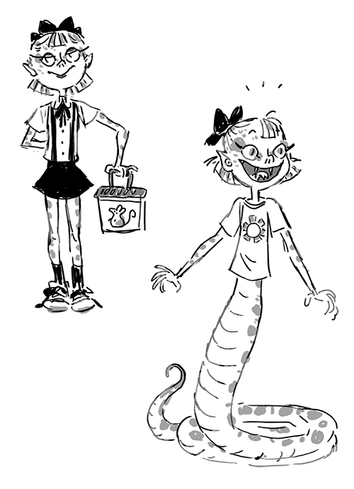 """Naga! I kind of imagine nagas and mermaids to have like an """"in between"""" form to take with scaley legs"""