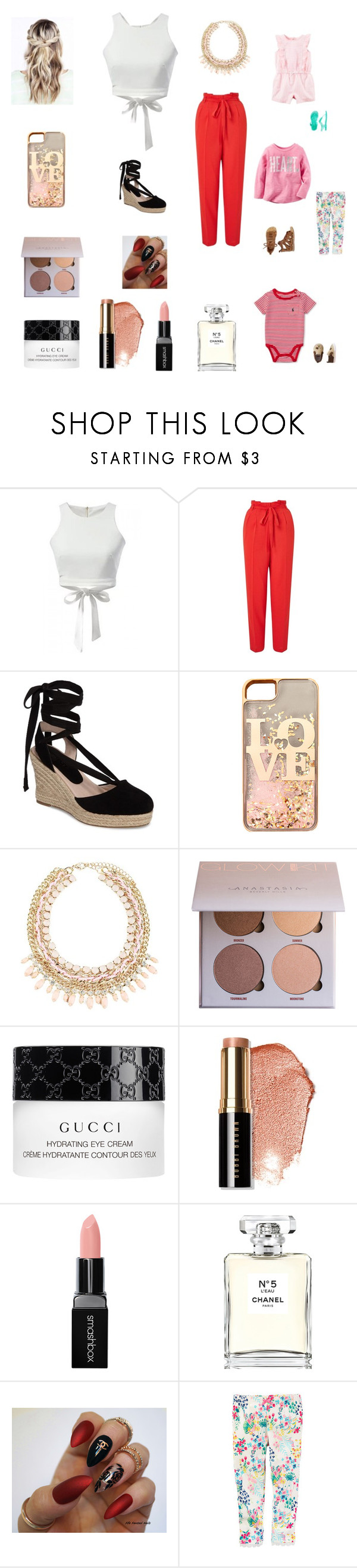 """""""Clean up and takeaway"""" by bellzellz ❤ liked on Polyvore featuring Miss Selfridge, Topshop, claire's, Gucci, Bobbi Brown Cosmetics, Smashbox, Chanel, Lord & Taylor and Carter's"""