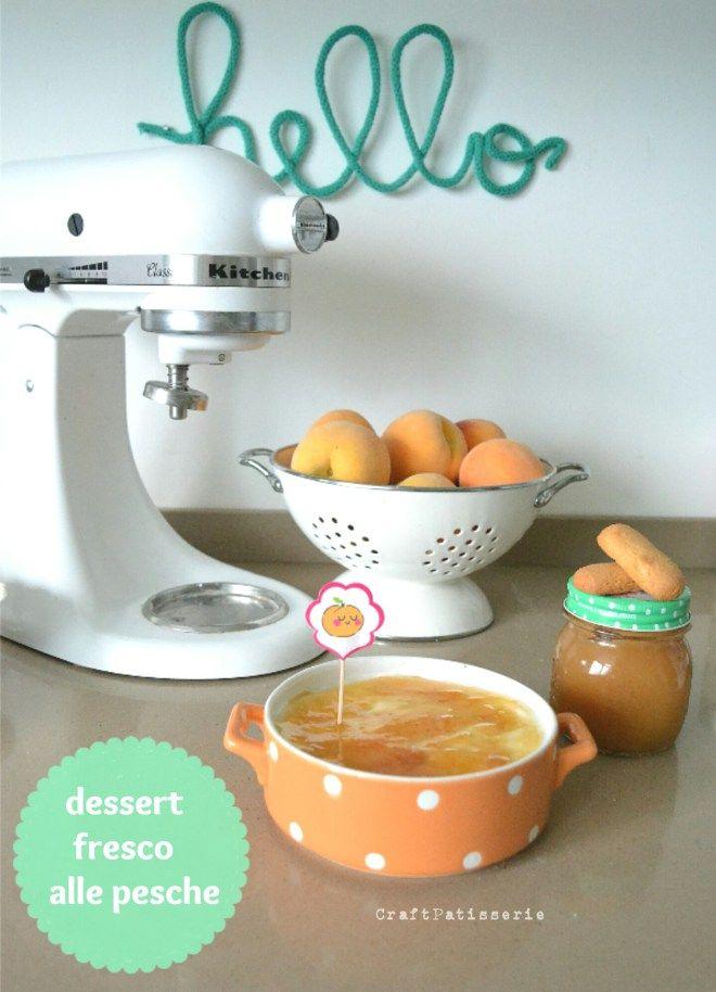 Dessert fresco alle pesche con ricotta e yogurt