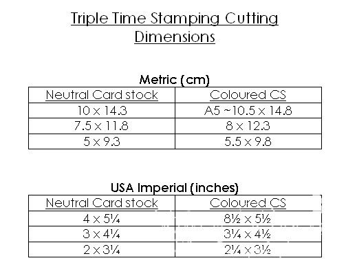 Karen Stampz How To Do Triple Time Stamping In Metric Card Sizes Cards Standard Card Sizes