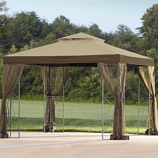Sunjoy Replacement Canopy for W x D Callaway Gazebo : tulip gazebo replacement canopy - memphite.com