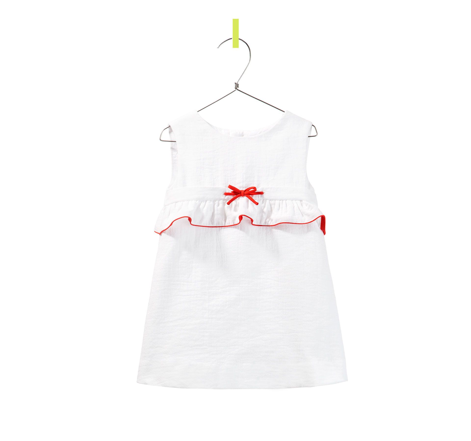 DRESS WITH RED PIPING Dresses Baby girl Kids