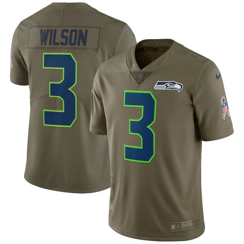 factory price 8156a 109c2 Russell Wilson Seattle Seahawks Nike Salute To Service ...