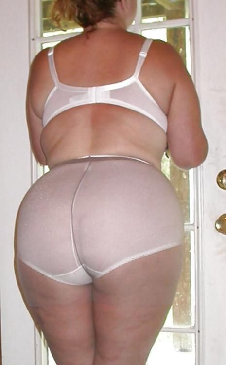 panties mature White