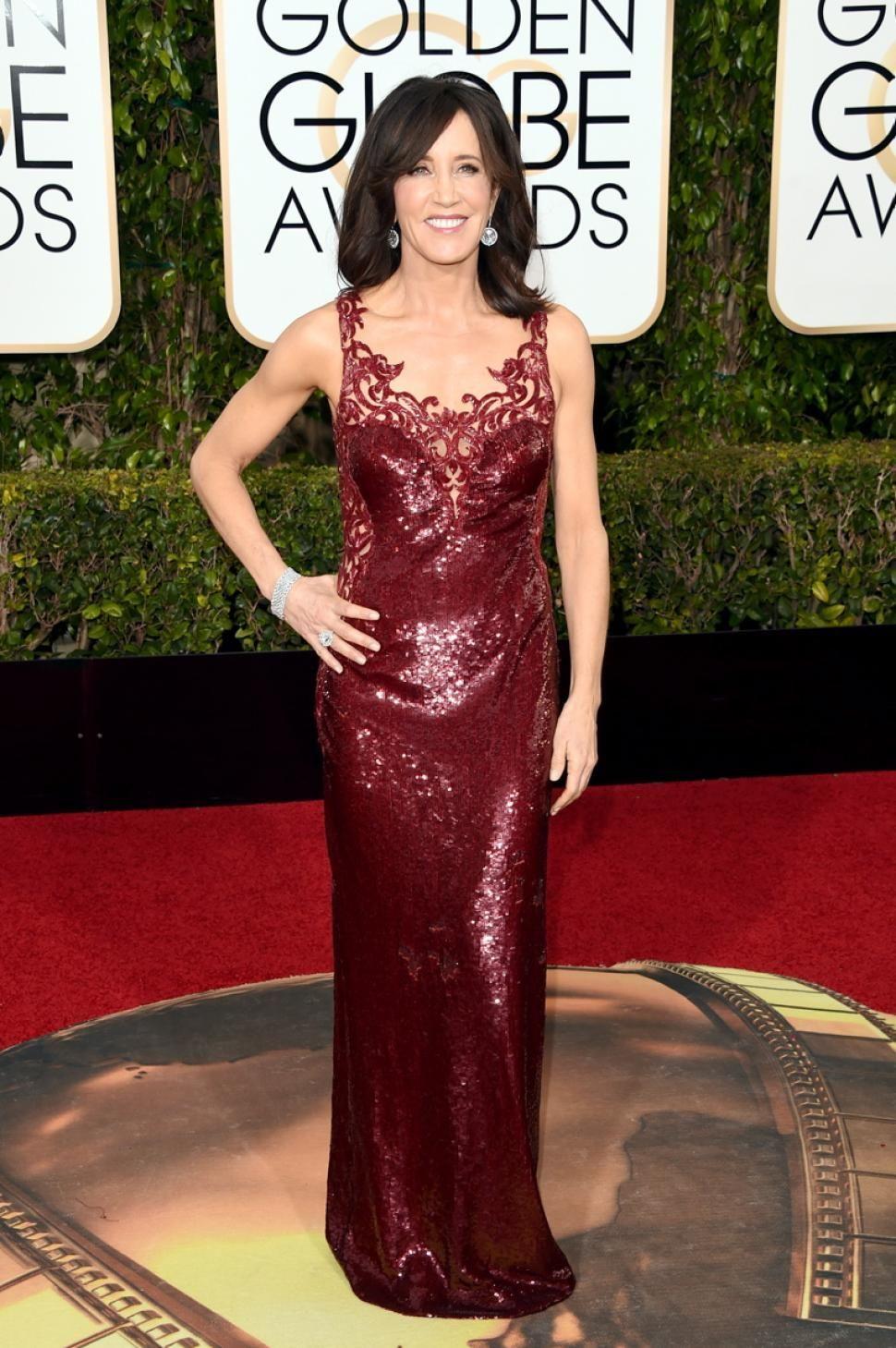 Atriz Felicity Huffman atende às 73rd Annual Golden Globe Awards realizada no Beverly Hilton Hotel em 10 de janeiro de 2016 em Beverly Hills, Califórnia.