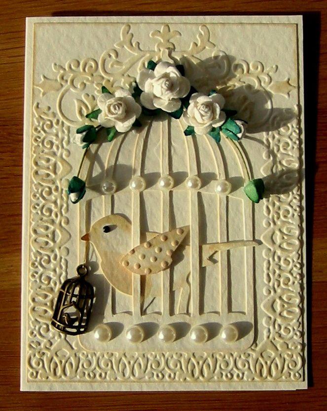 Tim Holtz/Sizzix Bird Cage Die Birthday Card