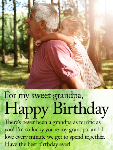 For My Sweet Grandpa Happy Birthday Wishes Card Grandpas And
