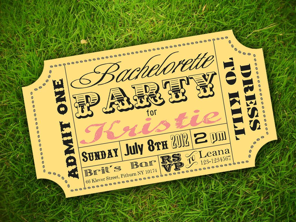 Free Printable Carnival Ticket Invitations Vintage Retro Fun