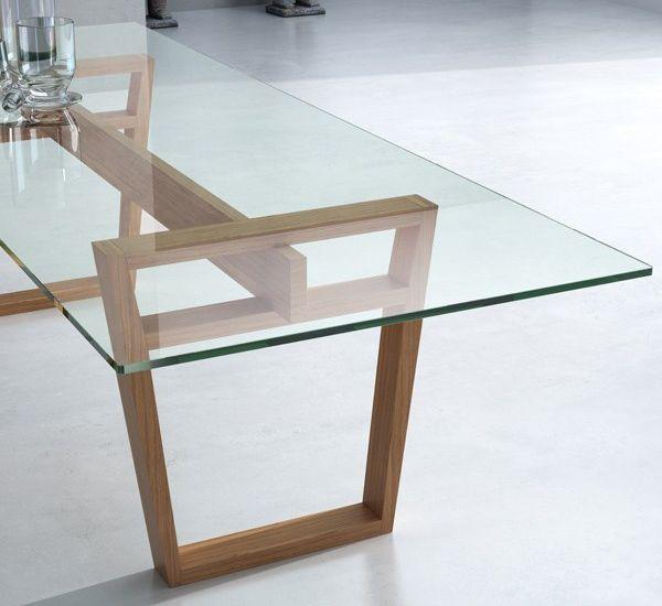 verre trempe pour table table en