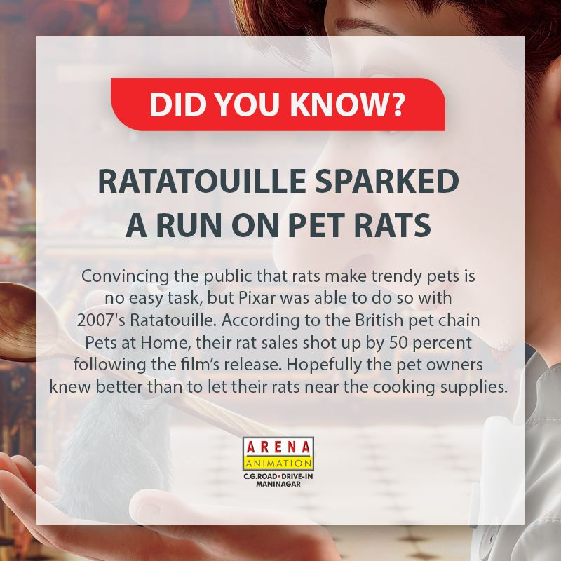 Did You Know According To British Pet Chain Their Rat Sales Shot Up By 50 After This Film S Rele Web Design Course Graphic Design Course Animation Institute