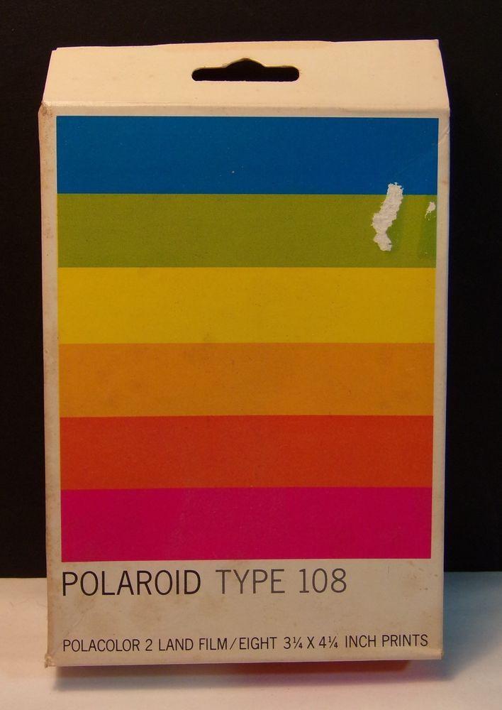 Vintage Polaroid Type 108 Polacolor 2 Land Film Expired