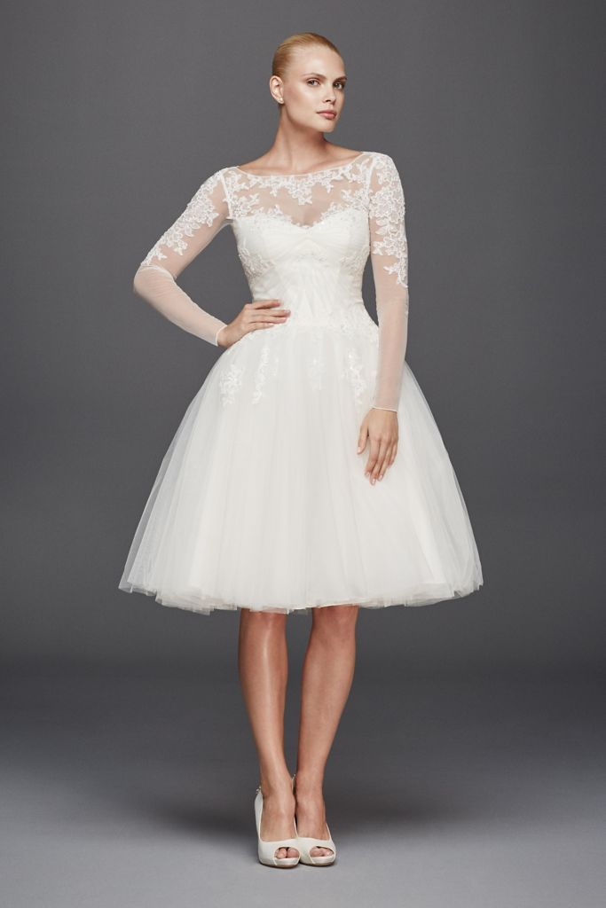 Short And Sweet Sheer Subtle Y The Illusion Neckline Wedding Dress Everafterguide