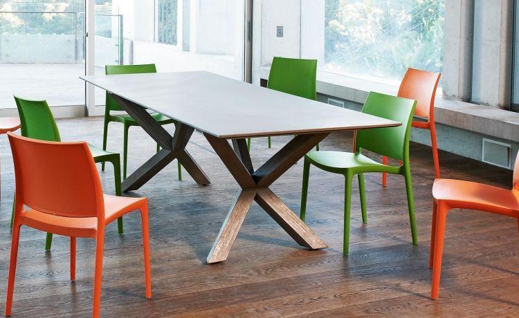 Wohnzimmertisch betonoptik ~ Tisch betonoptik selber machen rechteckiger esstisch holz beine