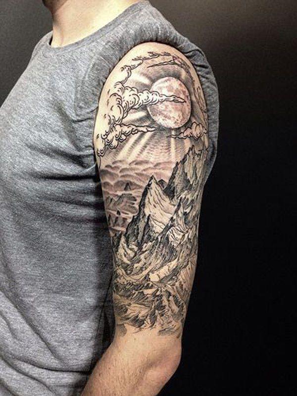 40 Mountain Tattoo Ideas Cuded Sleeve Tattoos Tattoo Designs Men Half Sleeve Tattoo