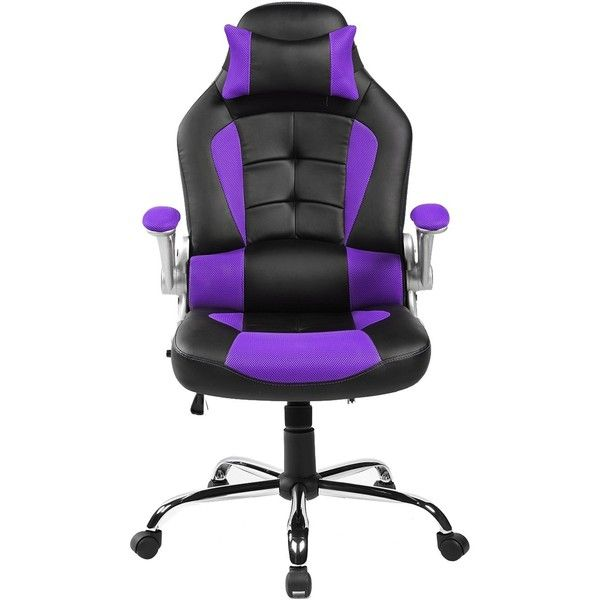 Amazon Com Merax King Series High Back Ergonomic Pu Leather Office Chair Racing Style Swivel Chair Computer Desk Lumbar Support Chair Napping Chair Purple K