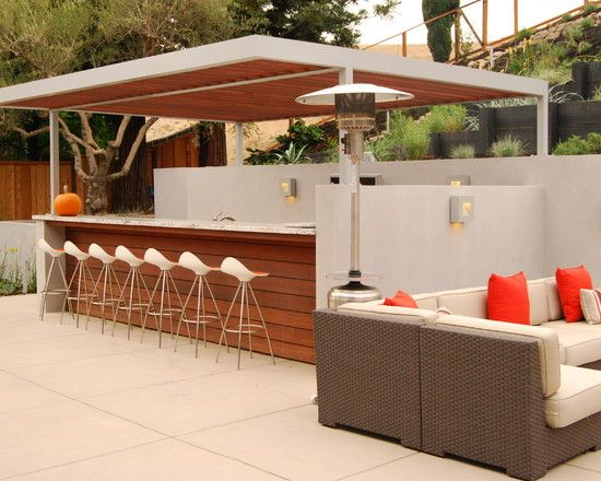 Bar idea | Outdoor Bar & Grill | Pinterest | Bar, Backyard and Patios