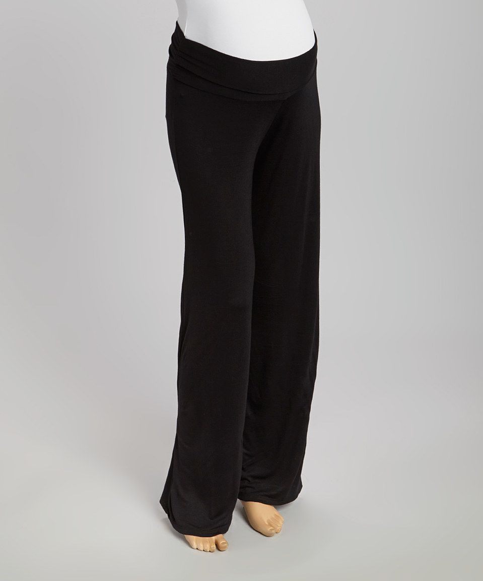 Love this Black Maternity Palazzo Pants by GLAM on #zulily! #zulilyfinds