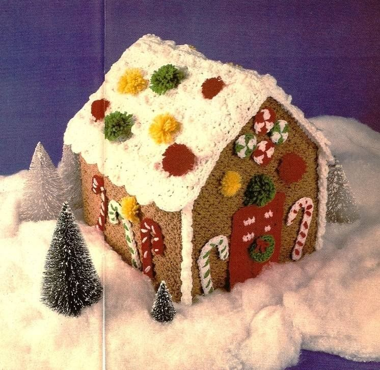 Y619 Crochet PATTERN ONLY Another Gingerbread House