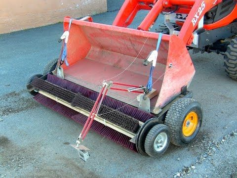 Homemade Rotary Broom On Youtube Tools Amp Tractor Attachments In 2019 Tractor