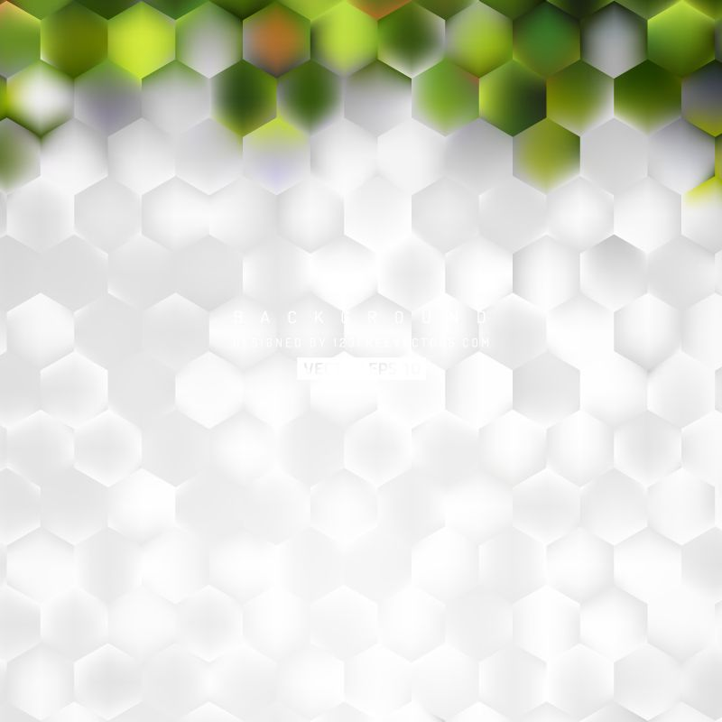 Abstract White Green Hexagon Background Template Background