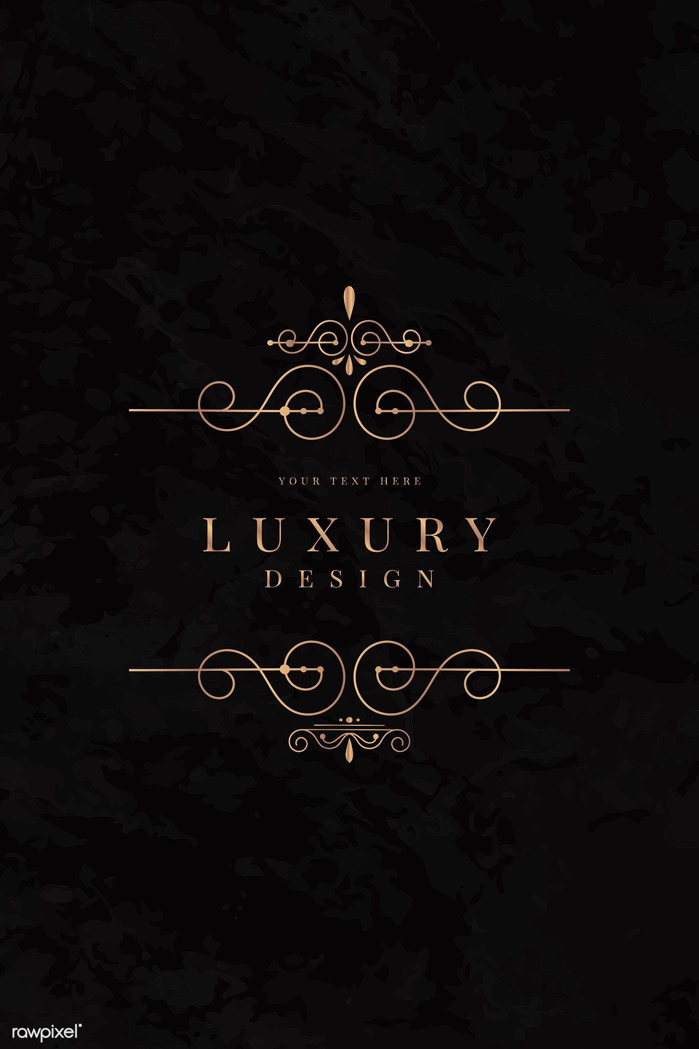 Download premium vector of Golden luxury logo design