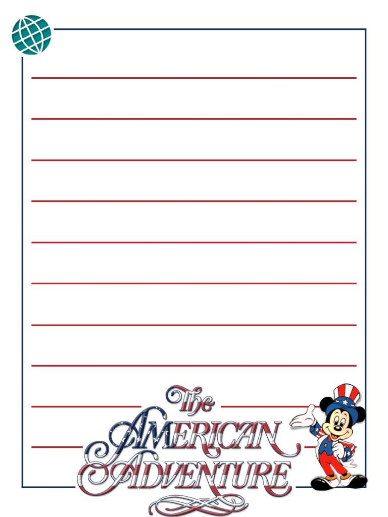 Journal Card EPCOT The American Adventure Mickey Project