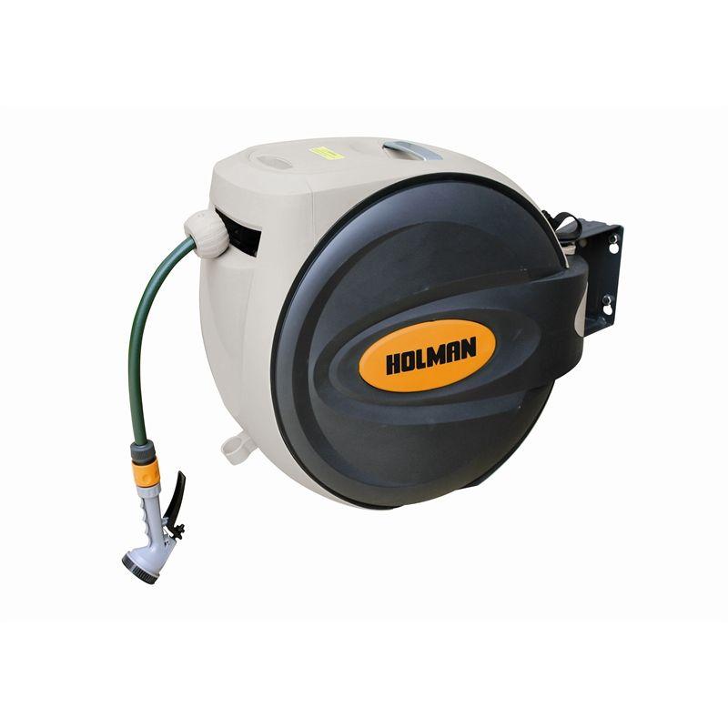 Holman Retractable Hose Reel 30m with Spray Gun  sc 1 st  Pinterest & Holman Retractable Hose Reel 30m with Spray Gun | My Wish List ...