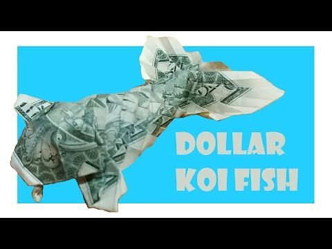 Koi FIsh out of a dollar bill... so awesome! Follow this link to ... | 360x480