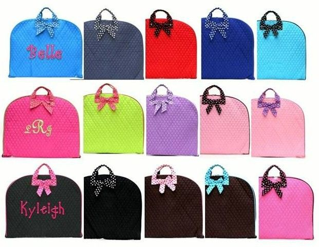 Monogrammed Garment Bag Personalized Embroidered