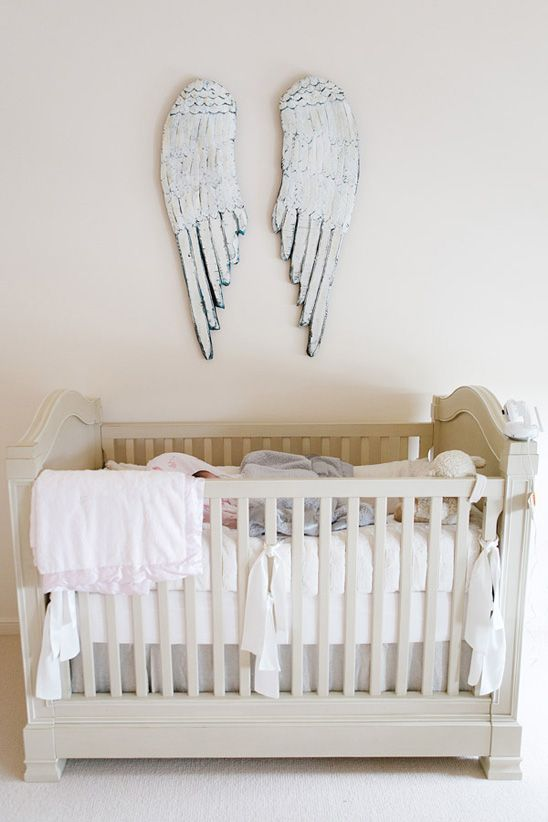 Gorgeous Wings Love This Idea Baby Girl Room Girl Room Baby Bed