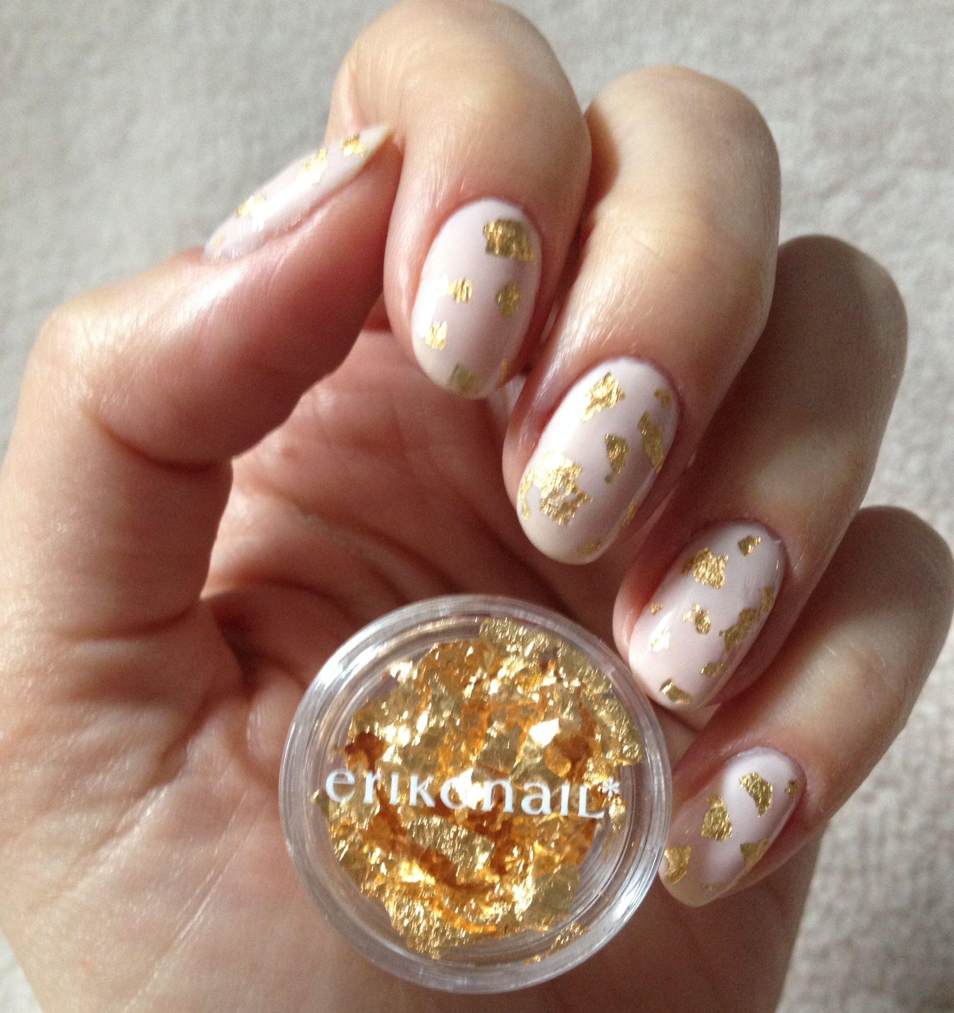 Gold leaf mani opi step right up | nail polish | Pinterest
