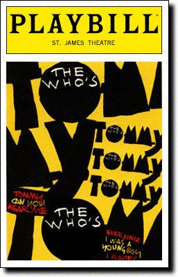 8102bae73164d1 Playbill Cover for The Who s Tommy at St. James Theatre - Opening Night