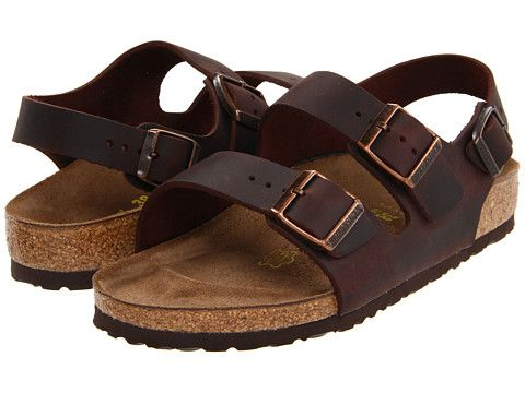 583c64eb32271c Birkenstock Milano - Oiled Leather (Unisex) Habana Oiled Leather -  Zappos.com Free Shipping BOTH Ways