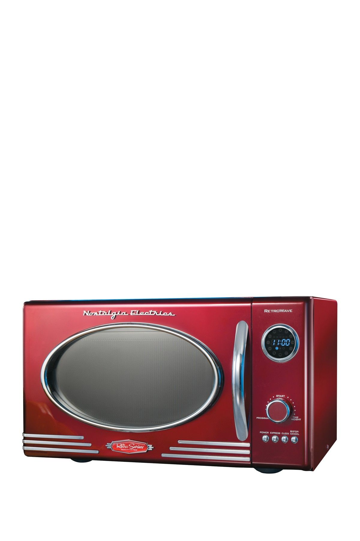 Nostalgia Electrics Retro Series 09 Cubic Foot Red Microwave Oven