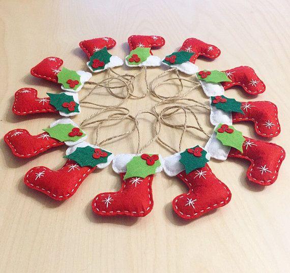 Navidad conjunto de 12 adornos regalos hechos a mano - Adornos de navidad hechos a mano por ninos ...