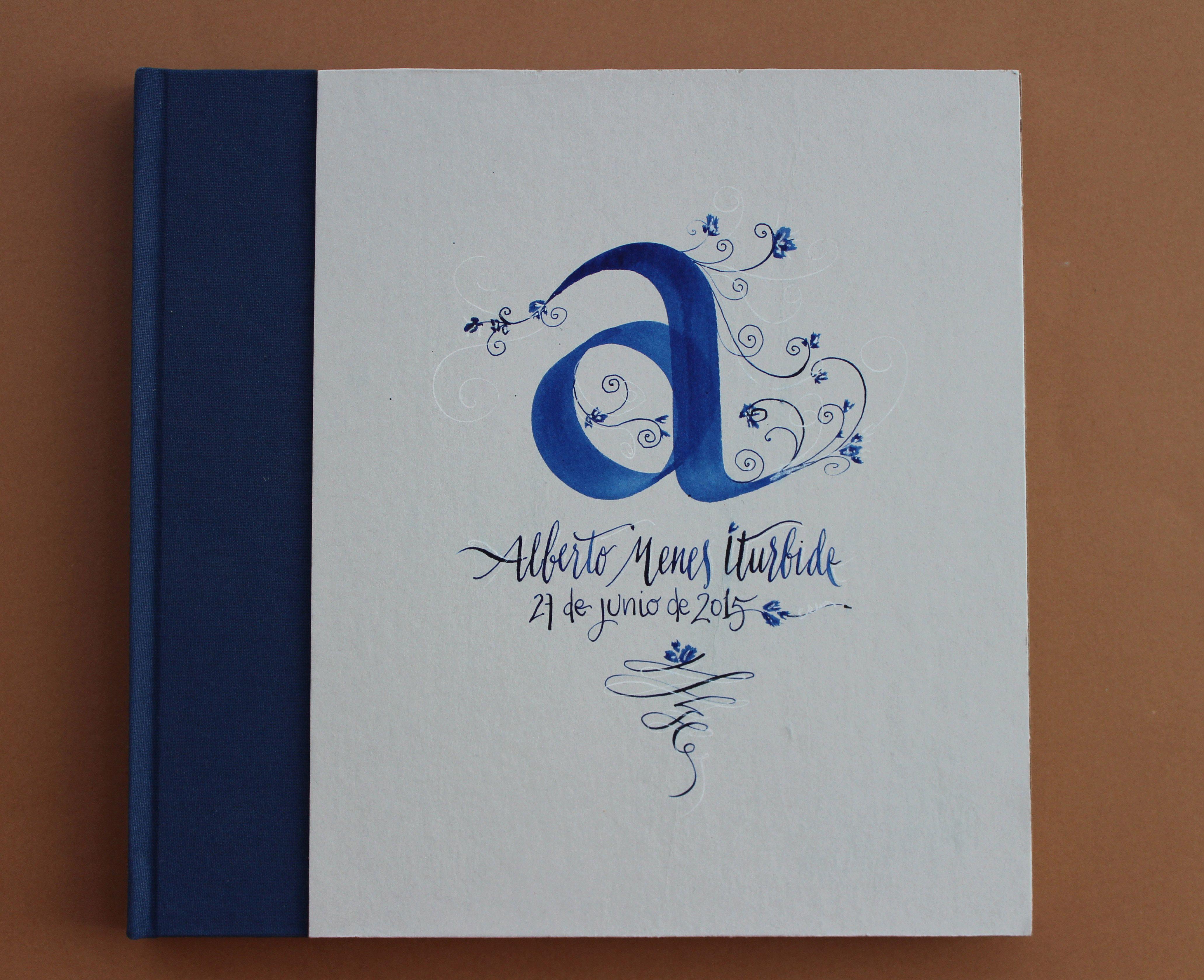 Libro de firmas, pieza única hecha por encargo de vic-a designs & la Morisque