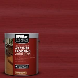 Behr Semi Transparent Barn Red Http Www Homedepot Com P Behr Premium 1 Gal St 112 Barn Red Semi Tran Staining Wood Exterior Wood Stain Semi Transparent Stain