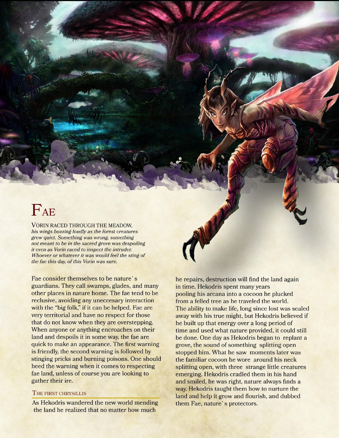DnD 5e Homebrew — Fae Race by PoundTown00 | Dungeons and