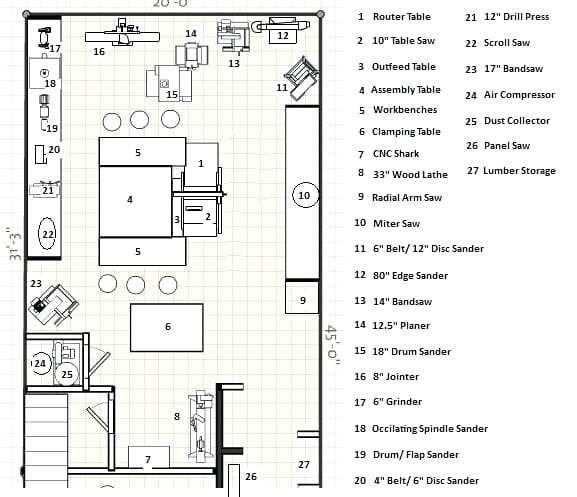 Woodworking Shop Floor Plans Tips
